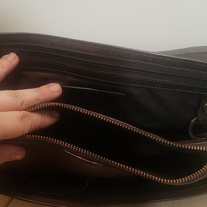 "Tumi Bags - Tumi brown leather briefcase laptop bag 15"" laptop"